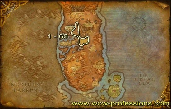 Durotar Skinning Map World Of Warcraft Warcraft Horde