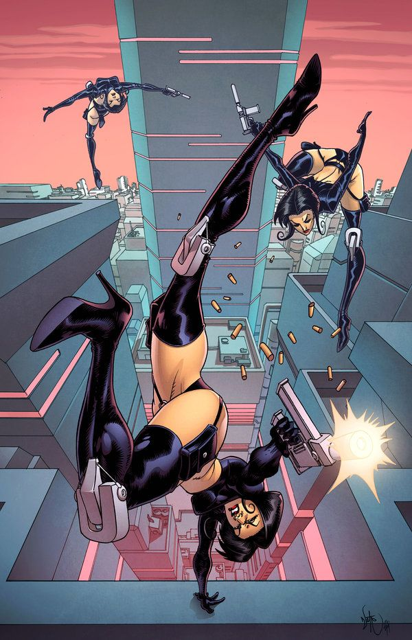 Aeon Flux. Lines by Nate Stockman, colours by Simon Gough ...
