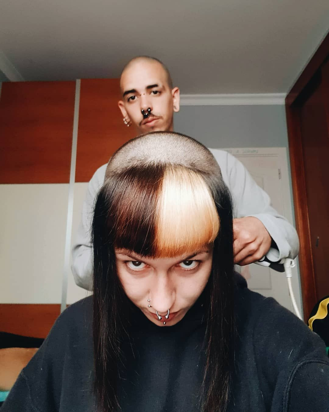 Getting head shaved