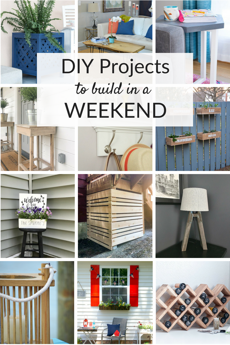 Weekend Diy Project Ideas Diy Home Projects Pinterest