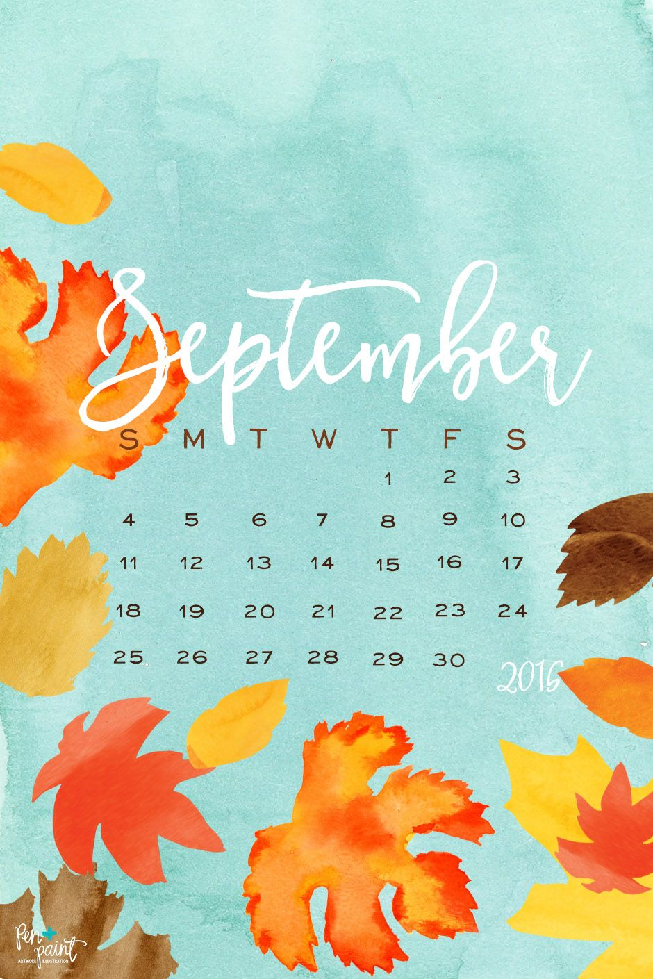 Gentil FREE September Desktop/Phone Wallpaper   Fall Leaves