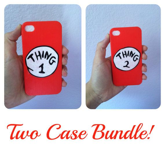 bff iphone cases | Thing 1 & 2 BFF cases for iPhone 4/4S/5 from DashingDaisiesx on