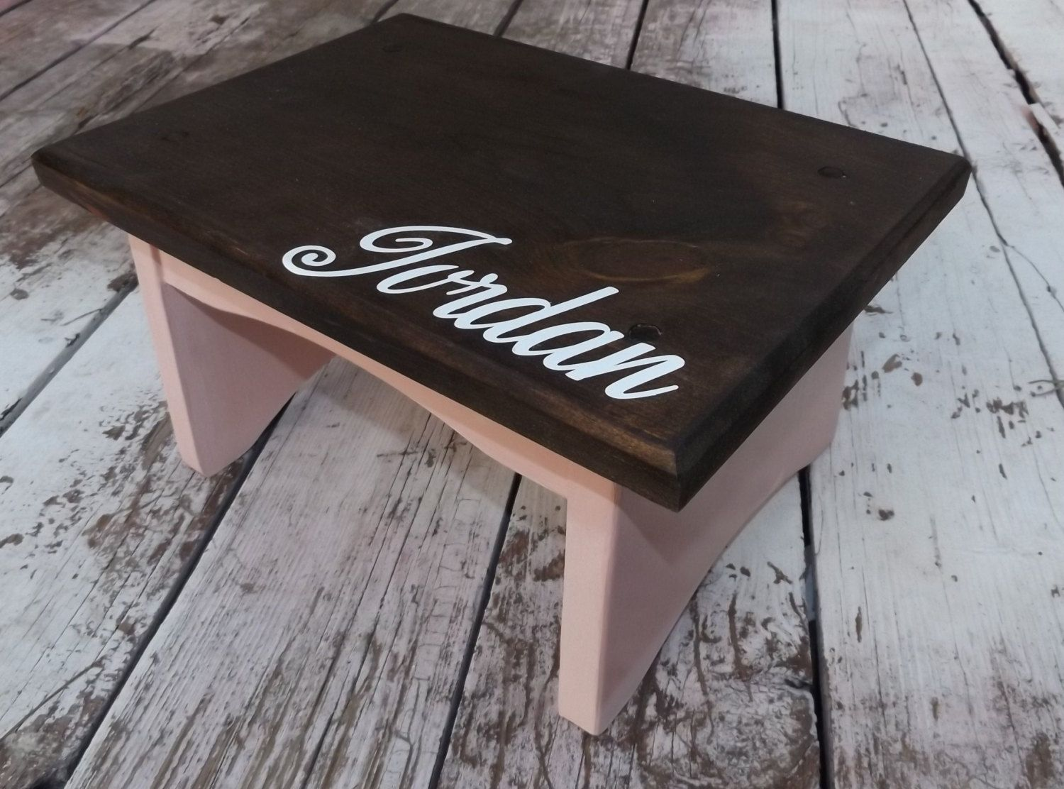 Terrific Wooden Step Stool With Name Personalized And Choose Color Caraccident5 Cool Chair Designs And Ideas Caraccident5Info