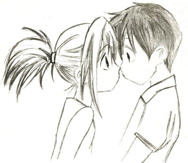 Cute Kiss By Phoenixrage333 On Deviantart Kissing Drawing Love Drawings Couple Cute Couple Drawings