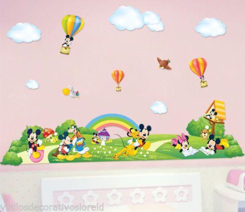 Pegatinas infantiles decorativas bebe mickey 169 75cm for Pegatinas vinilos infantiles
