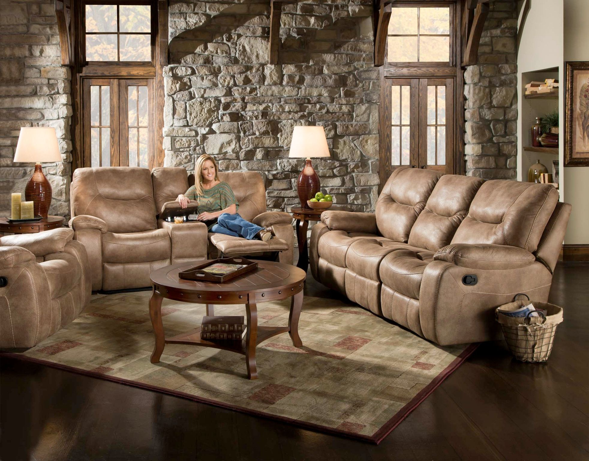 Poncho Motion Sofa And Console Love Seat Tan Bomber Jacket