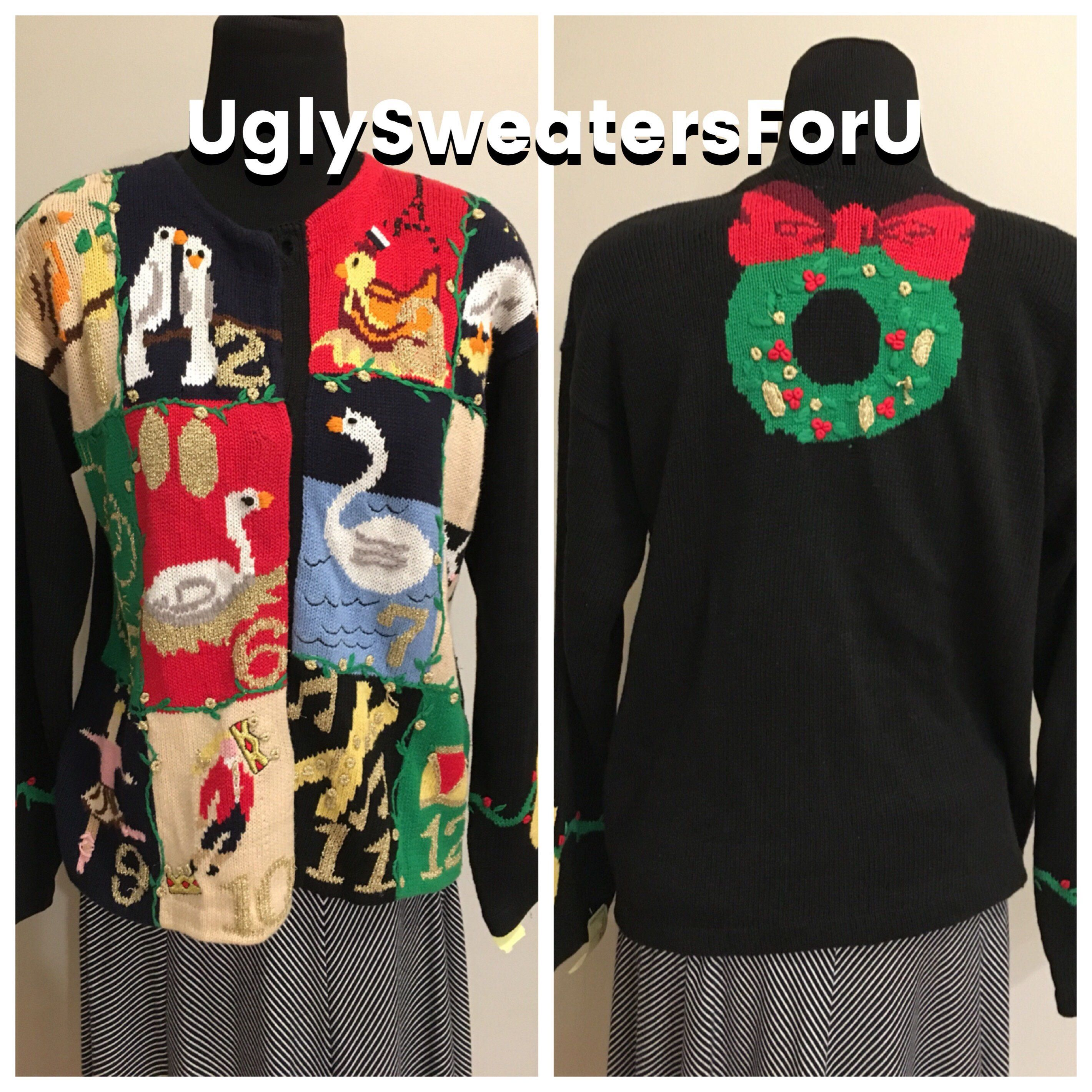 Uglychristmas Sweater 12 Days If Christmas Christmas Jumper Tacky