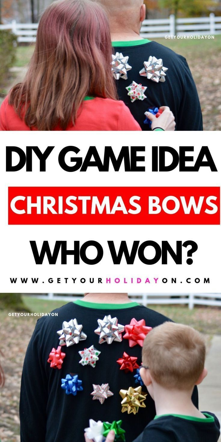 How to Play a Game with Christmas Bows   Get Your Holiday On
