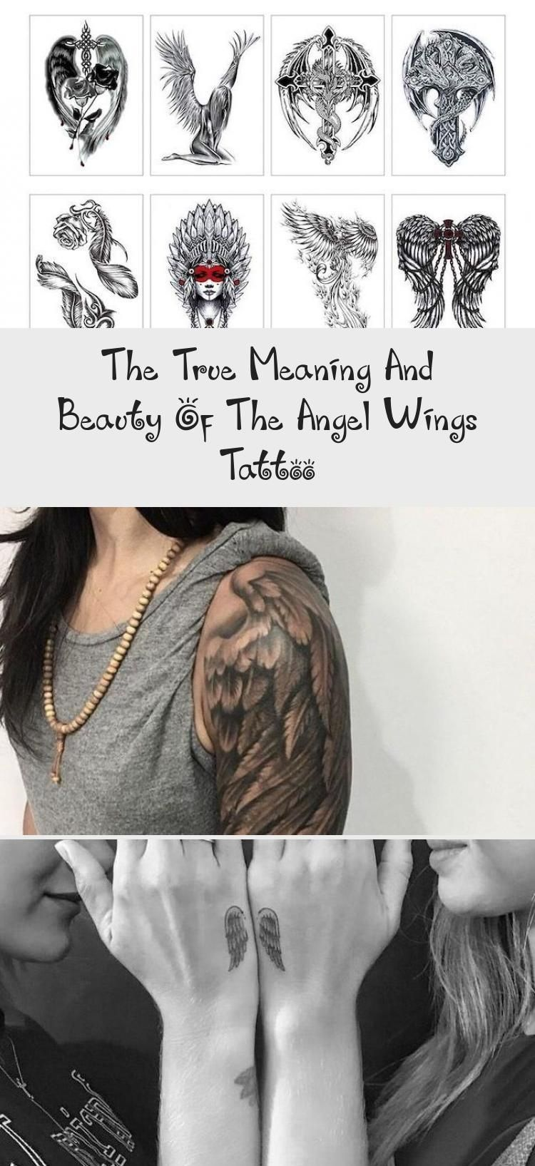 The True Meaning And Beauty Of The Angel Wings Tattoo In 2020 Angel Wings Tattoo Beautiful Angel Tattoos Wings Tattoo