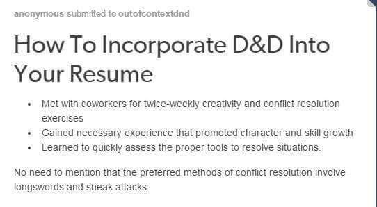 How to incorporate DD into your resume Coisa de nerd, Nerd e