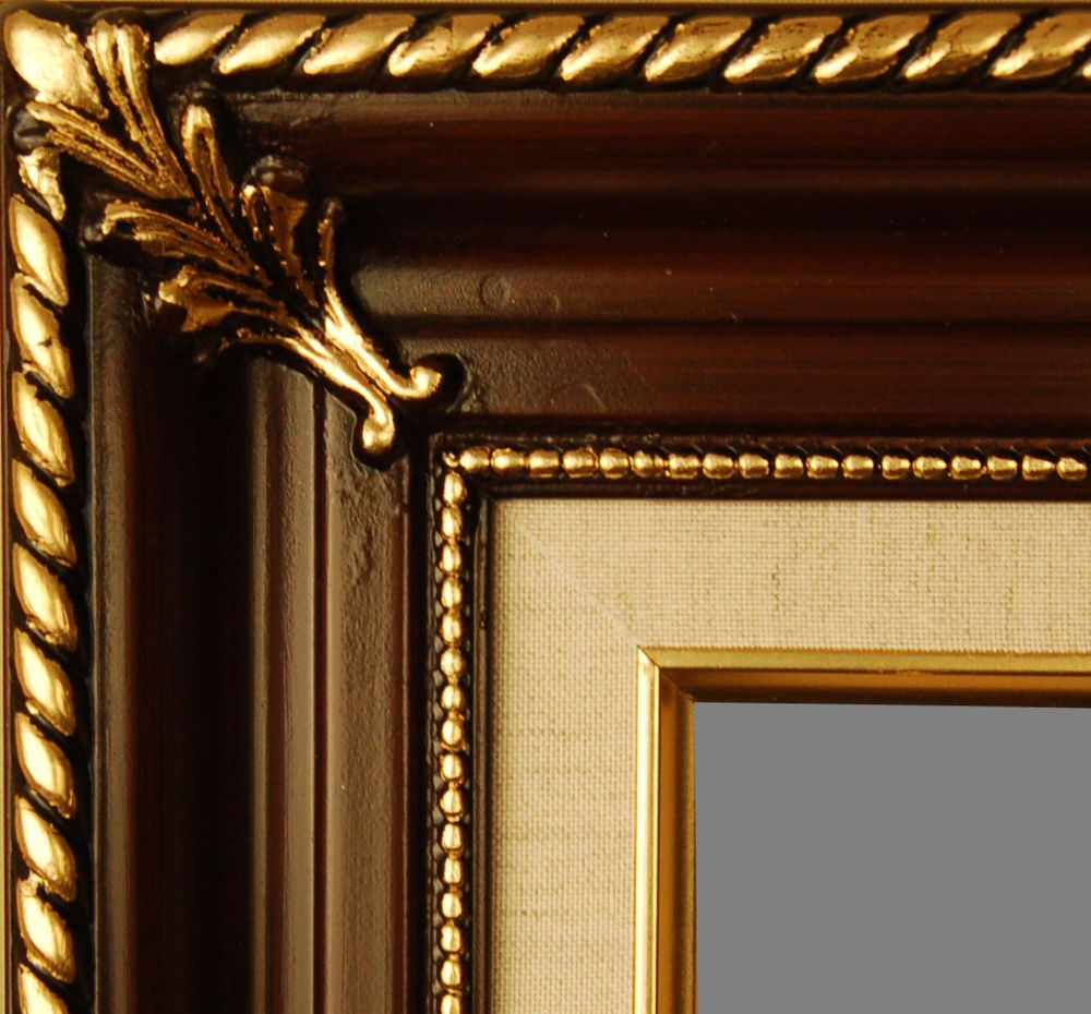 Picture frame wood walnut gold ornate portrait art photo many picture frame wood walnut gold ornate portrait art photo many sizes available in crafts jeuxipadfo Gallery