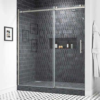 Ove Decors Kelsey 72 Tempered Glass Shower Door In 2020 Shower Doors Glass Shower Doors Tempered Glass Shower Doors