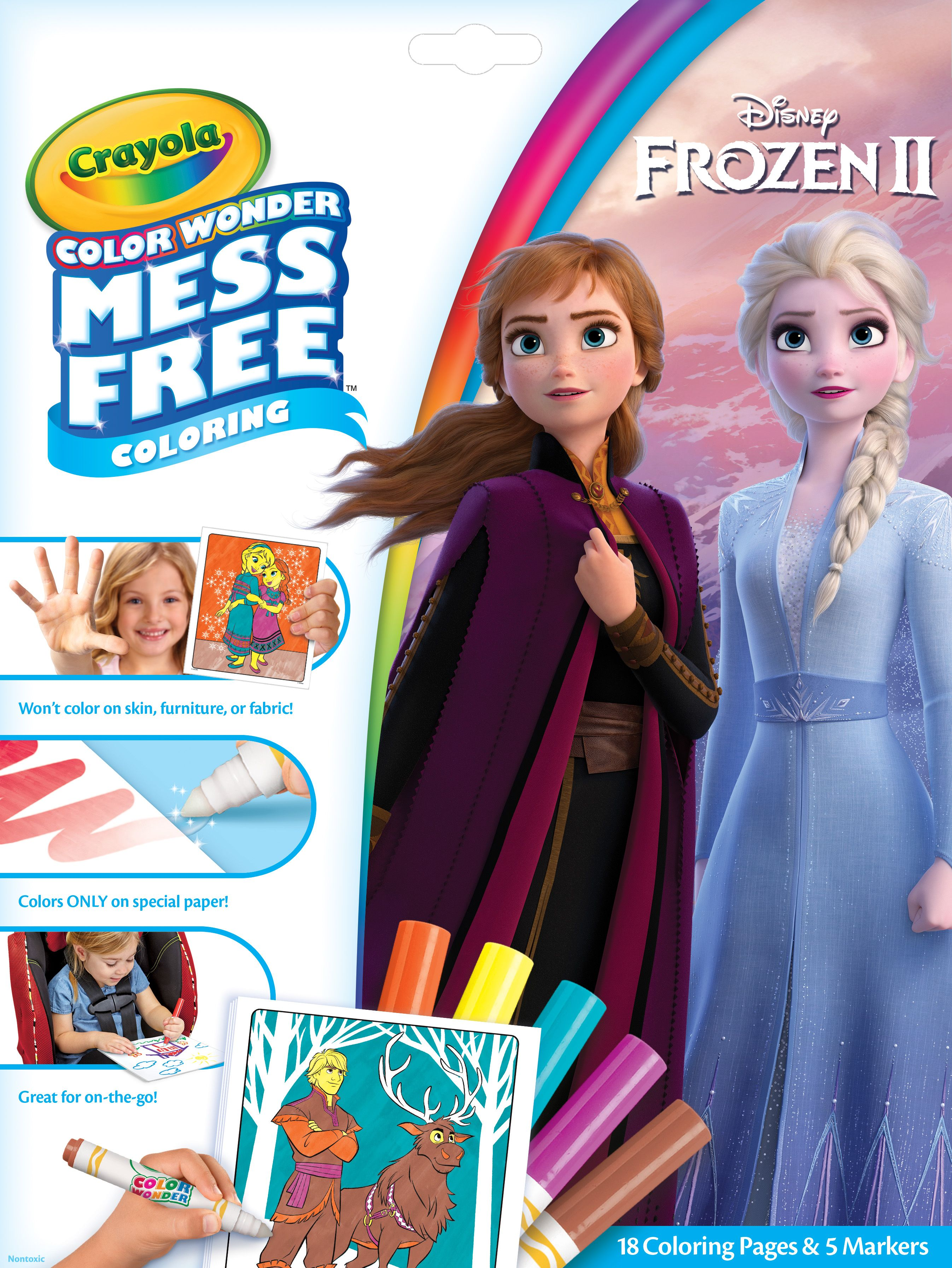 Crayola Color Wonder Mess Free Frozen 2 Coloring Set 18 Pages Child Ages 3 Walmart Com Color Wonder Barbie Coloring Pages Barbie Coloring