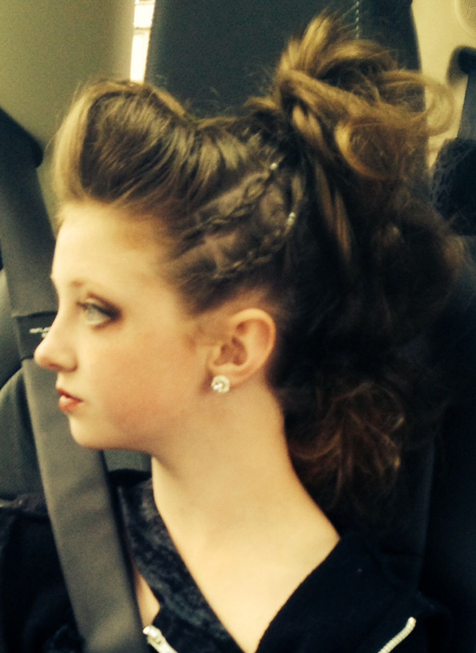 Faux Hawk Competition Hair For Contemporary Solo Dance Hair