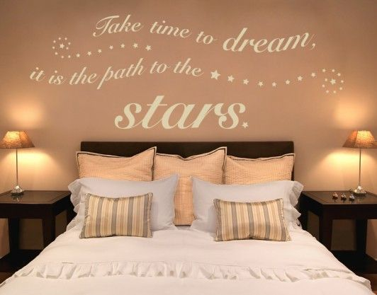 Photo of Time to Dream Wall Decal Quote