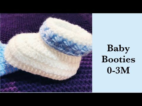 Photo of Baby Boy Set: How to crochet cuffed baby booties   shoes 0-3M Crochet for Baby #178