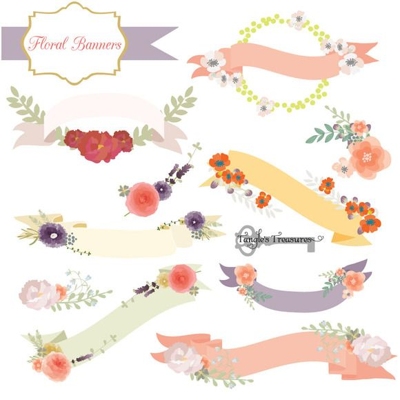 Floral Banner Vectors Banner vector, Banners and Creative - fresh invitation banner vector