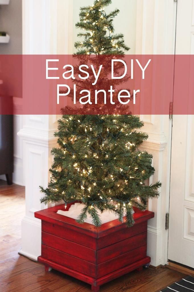 Love These Easy Diy Planters They Fit Our Christmas Trees But Could Easily Be Used For Potted P Diy Christmas Tree Potted Christmas Trees Christmas Tree Box