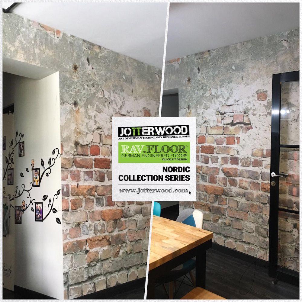 Raw Industrial wallpaper. Jotterwood Vinyl Flooring