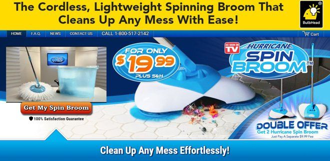 Hurricane Spin Broom Is A Lightweight Spinning Broom That