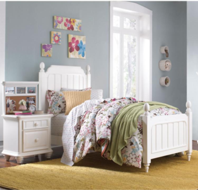 zoe 3piece twin bed set  girls bedroom sets bed