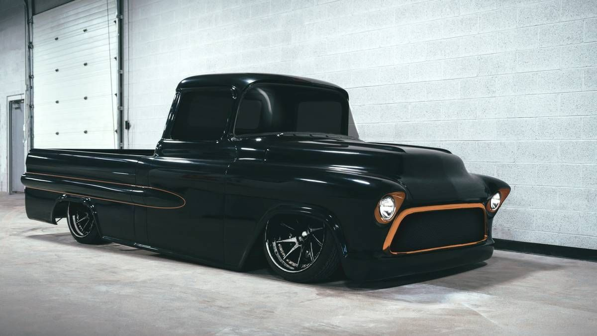 1957 chevy truck fleetside [ 1200 x 675 Pixel ]