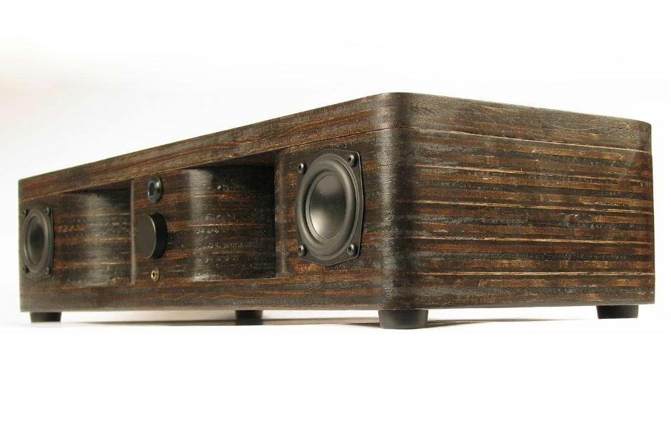 The QuarterWave wireless speaker is wood at its best