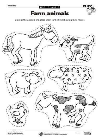 Farm Animal Printables Cut Outs