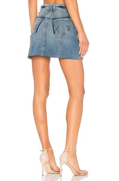 261580a4 McGUIRE Tosca Denim Skirt in St Therese | Indy 500 Outfits | Denim ...