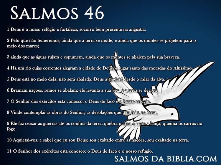 Salmos 46 Salmo 46 Salmos Deus