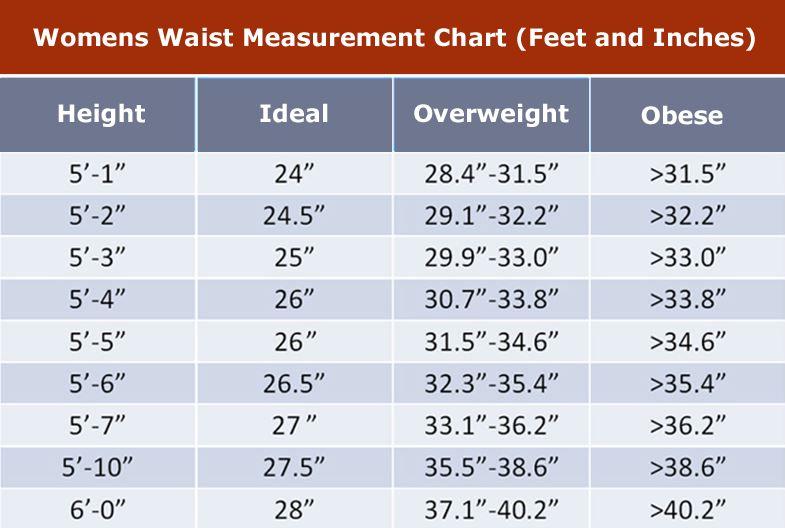 Women Waist Measurement Chart Important Fitness Strength
