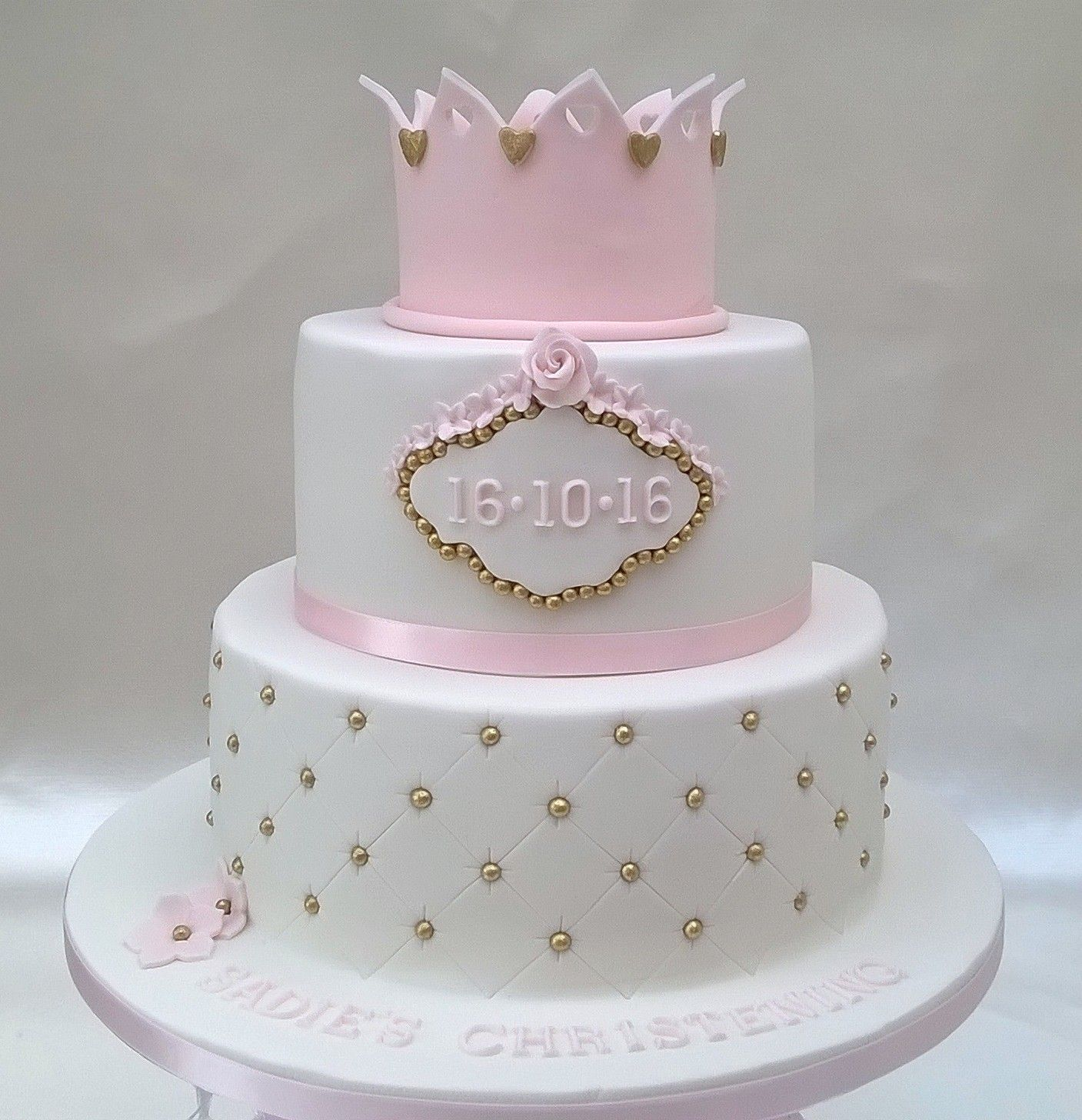 Two Tier Princess Cake With Crown Cakes Pinterest Crown