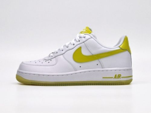 best sneakers 13938 70fd4 Nike Air Force 1 One Women Sz 10 Men Sz 8.5 Shoes White Ice Yellow  315115-126