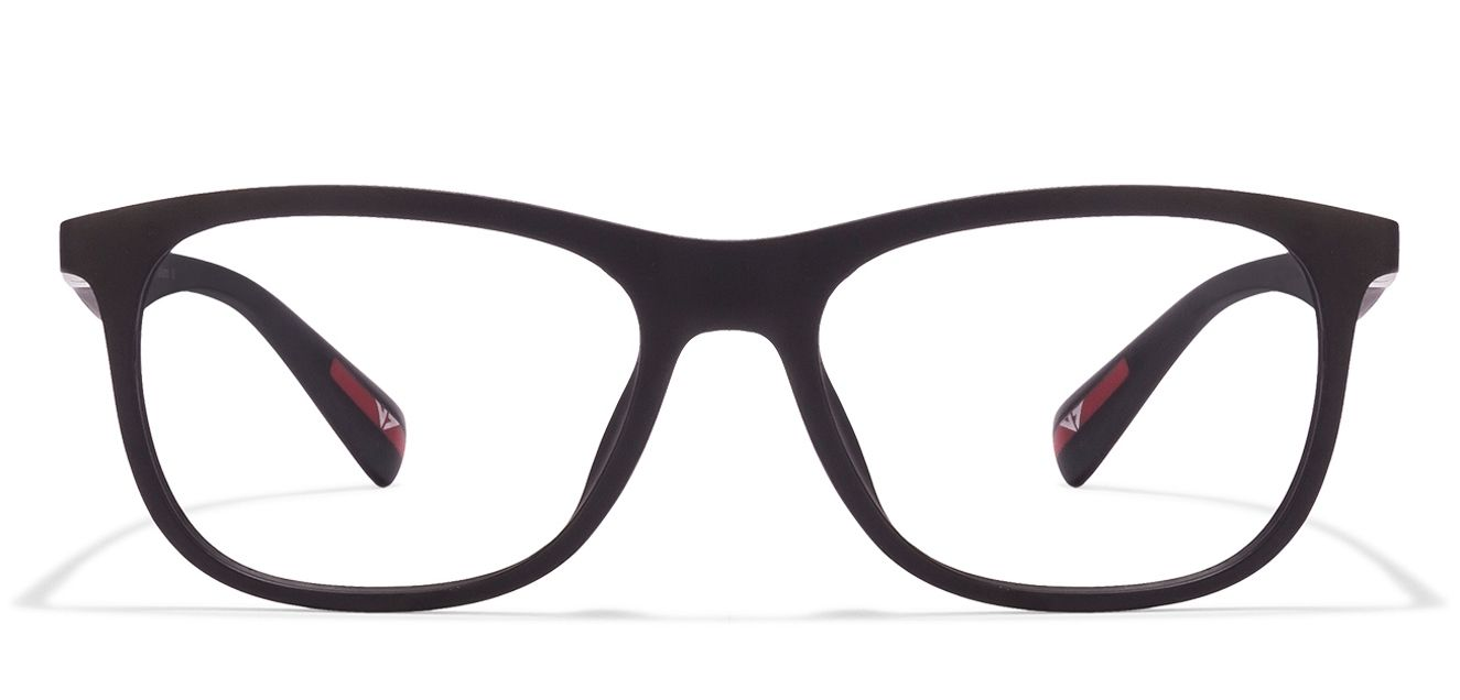 7bcba46691 Vincent Chase VAGABOND VC 1478 Black Red C26 Wayfarer Eyeglasses -  Lenskart.com   Rs.1299