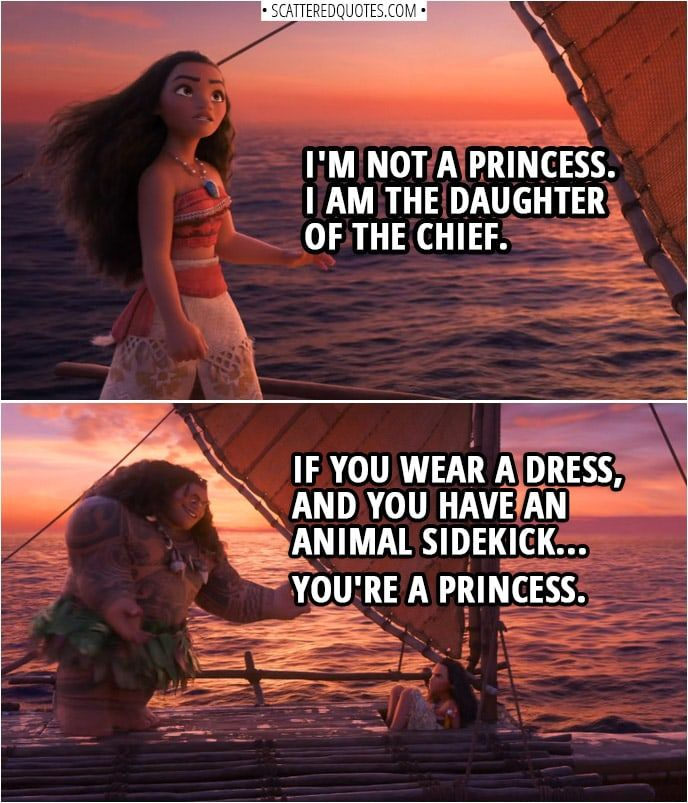 You have an animal sidekick... you're a princess.   Scattered Quotes