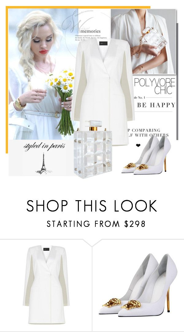 """""""Styled in Paris - Perfume Bag"""" by bebushkaj ❤ liked on Polyvore featuring BCBGMAXAZRIA and Versace"""