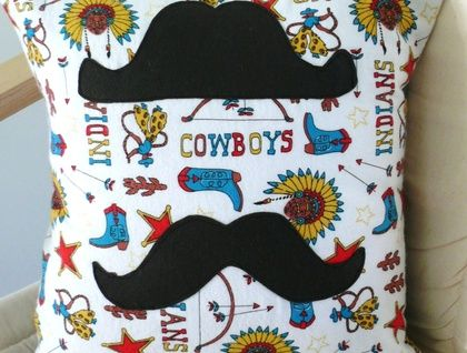 SUPER COOL 'Cowboys and Indians' CUSHION COVER