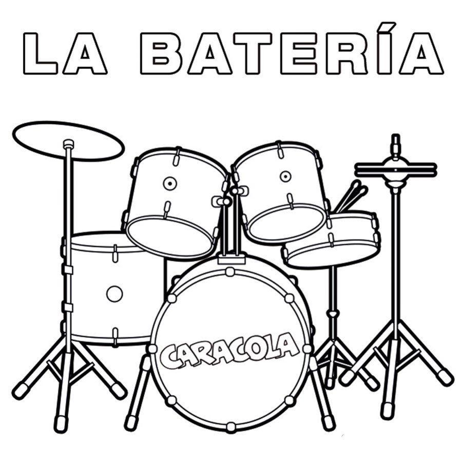 Dibujos Para Colorear De Instrumentos De Musica Dibujos De Instrumentos Musicales Instrumentos Musicales Para Ninos Baterias Musicales