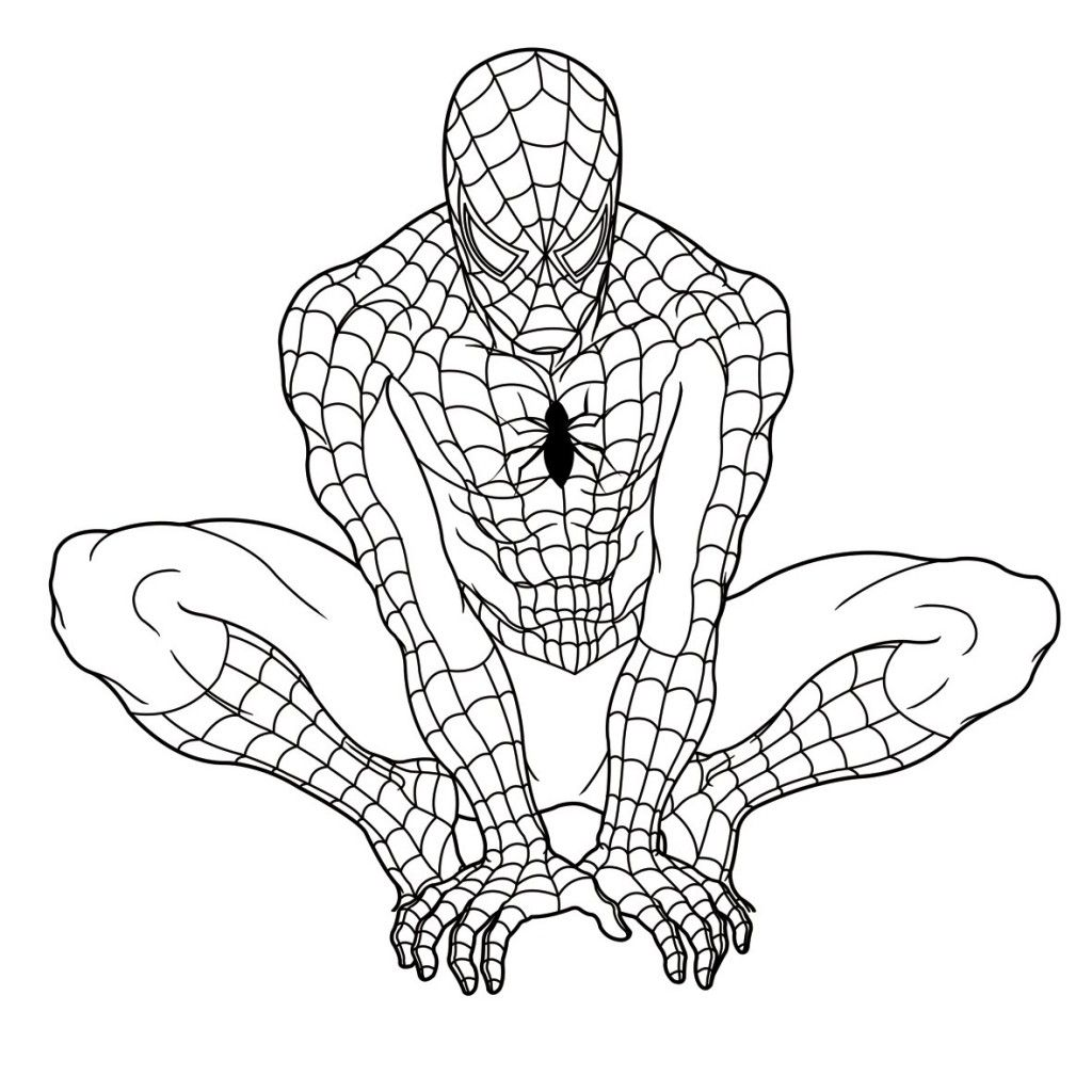Free Printable Spiderman Coloring Pages For Kids With