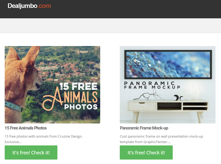 Deal Jumbo: freebies for Web Professionals.
