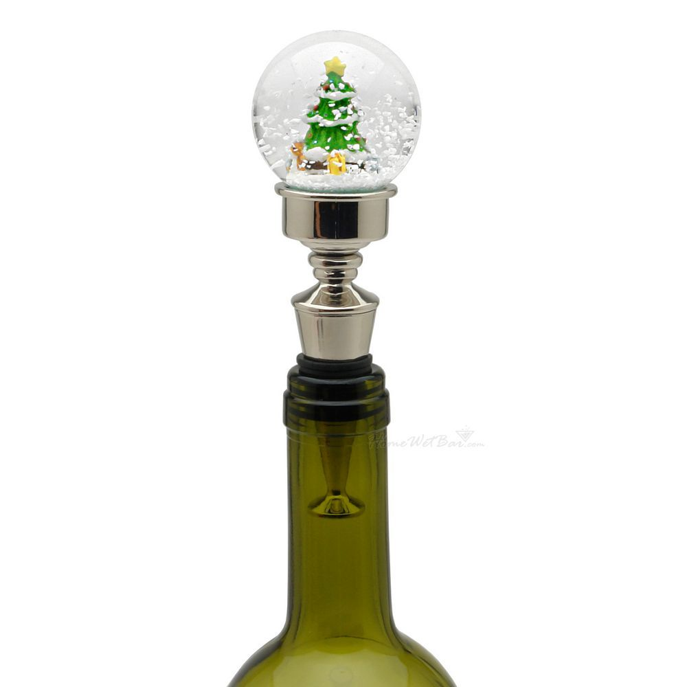 Snowing christmas decoration let it snow - Let It Snow Christmas Tree Wine Stopper