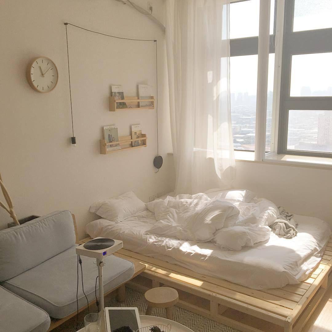 Vividspark Korean Fashion Blog Home Bedroom Aesthetic Bedroom Minimalist Bedroom Korean-style minimalist bedroom decoration