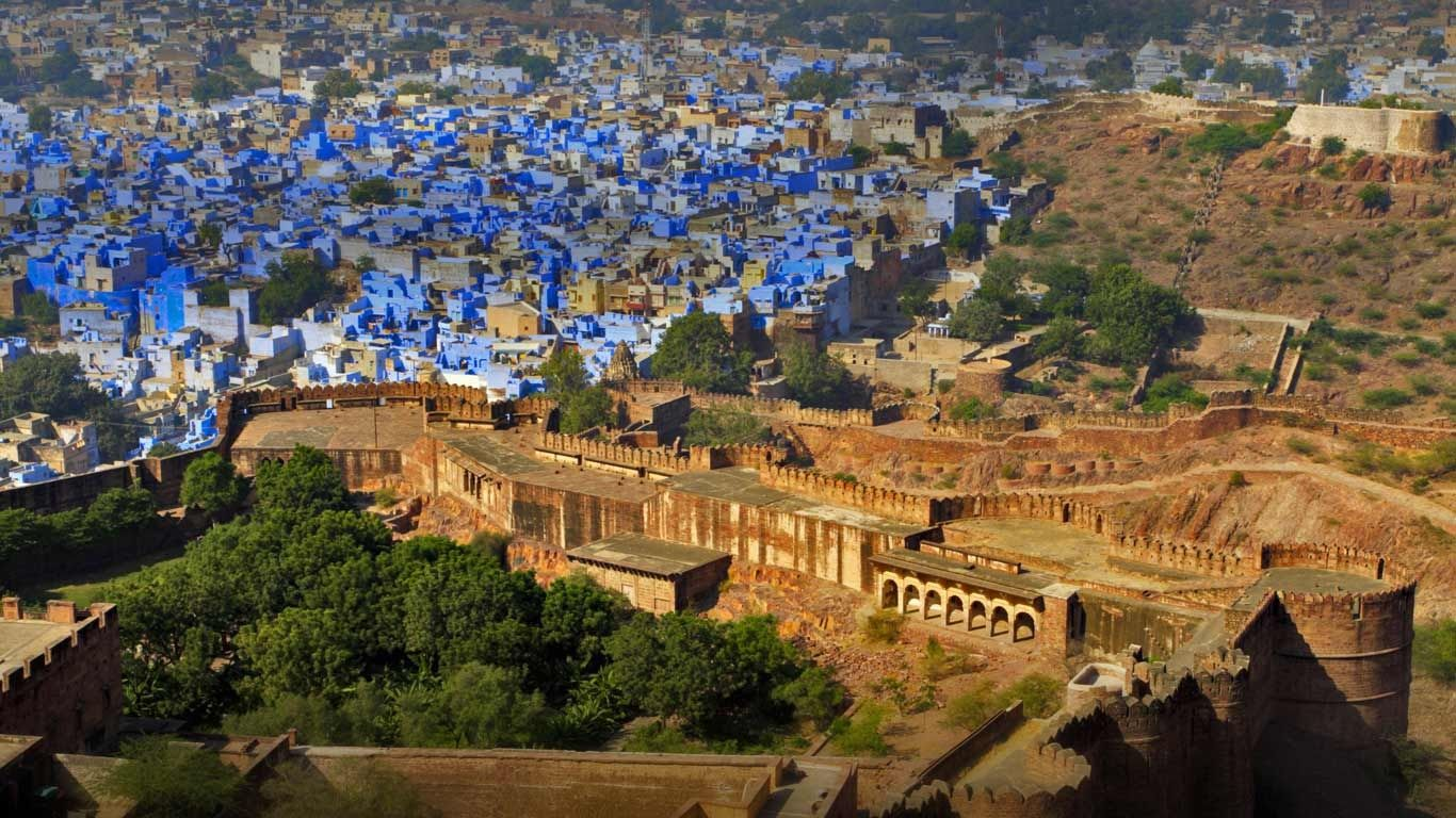 Bing Image Archive View of the blue city, Jodhpur, from