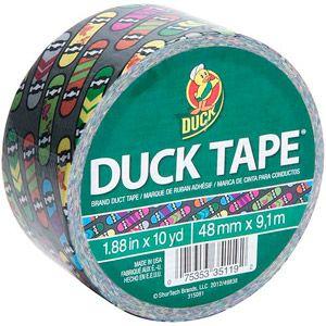"Duck Brand Duct Tape, 1.88"" x 10 yard, Skateboard"