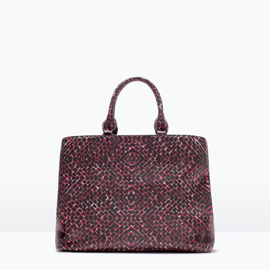 ZARA - NEW THIS WEEK - PRINTED SHOPPER BAG