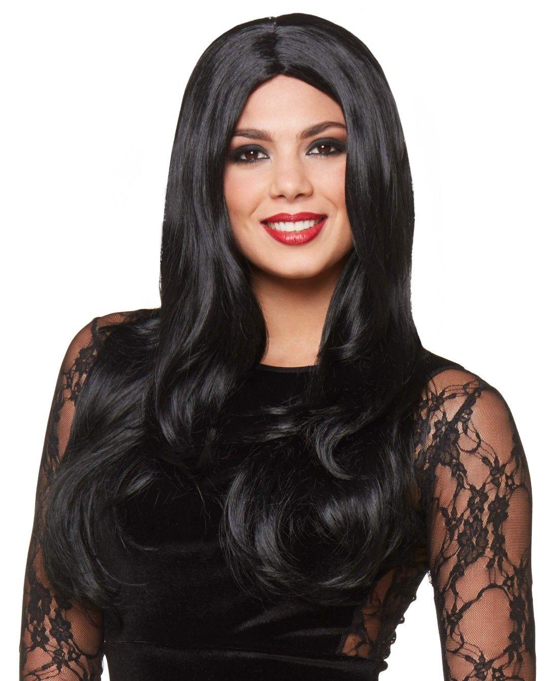 Pin By Jennifer On Halloween 2020 In 2020 Long Black Wig Black Wig Wigs