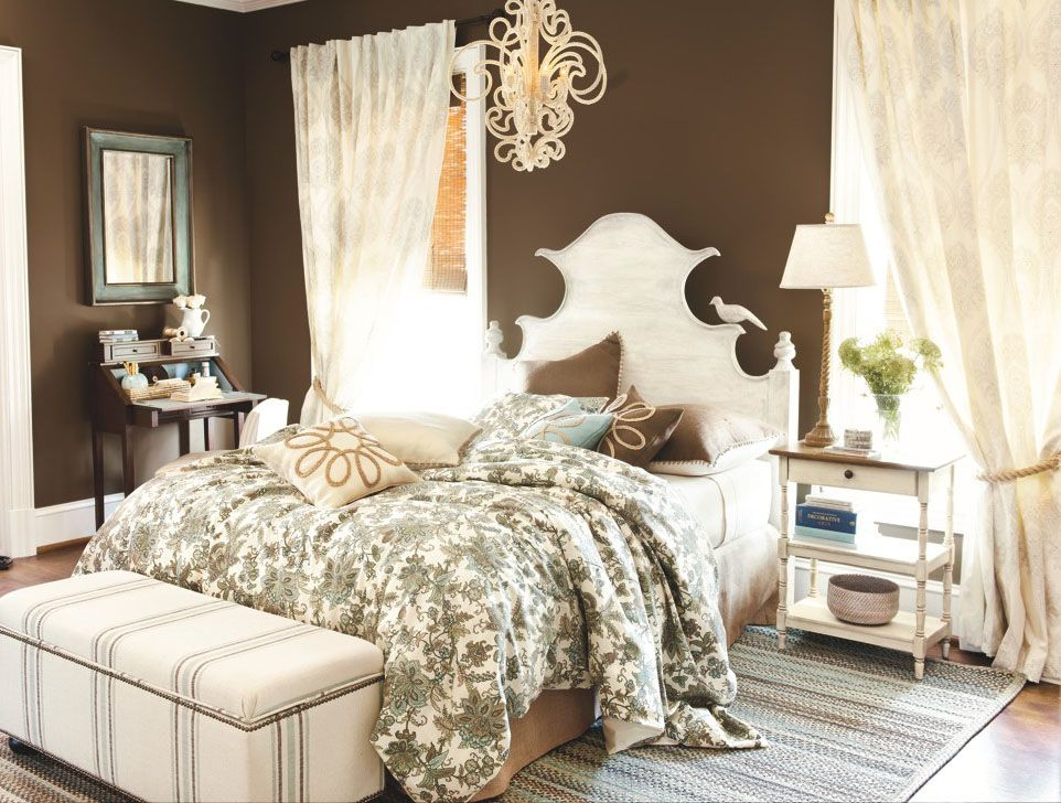 Autumn oversize plaid throw bedrooms chandeliers and lights for Cream and brown bedroom designs