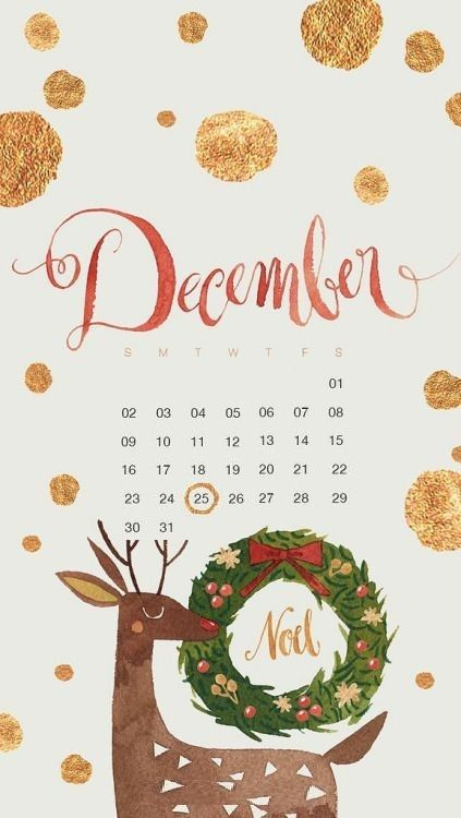 Cute December 2018 Calendar Design For Desktop Christmas