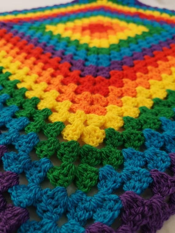 Rainbow Baby Blanket. Square blanket, vegan friendly ...