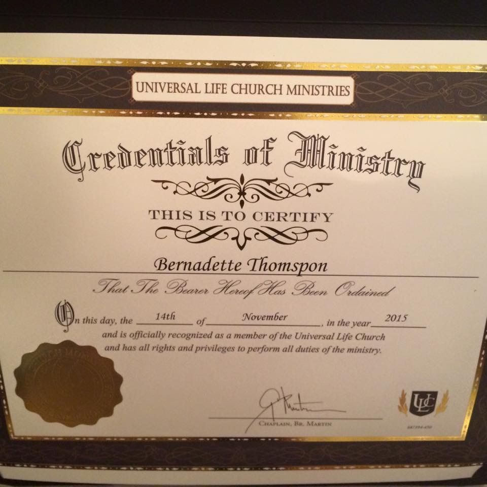 Just Got Ordained Now I Will Be Able To Officiate Weddings